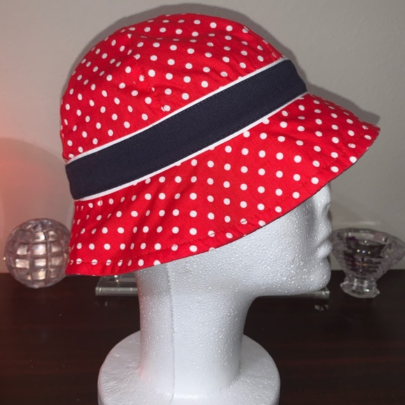 Other - NEW! Youth polka adorned Bucket Cap